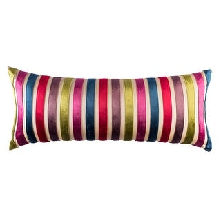 100% Handmade Imported French Jewels Throw Pillow Cover, Multicolor on Cream