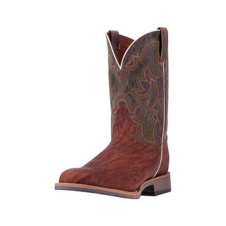 Dan Post Western Boots Mens Odessa Wide Round Stockman Brown DP4509