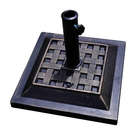 """17.5"""" Heavy Duty Square Umbrella Base Stand - Bronze"""