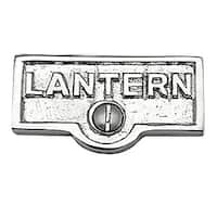 Switch Plate Tags LANTERN Name Signs Labels Chrome Brass | Renovator's Supply