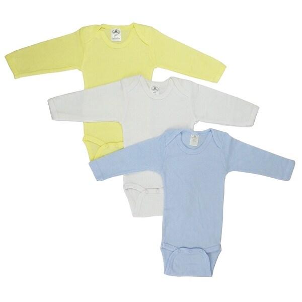 Bambini Boys' Pastel Long Sleeve Onezie - Size - Newborn - Boy