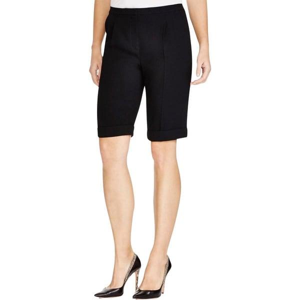 Elie Tahari Womens Dress Shorts Pleated Cuffed