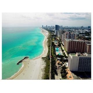 """USA, Florida, aerial view of Miami Beach"" Poster Print"
