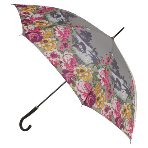 Ulster Weavers Country Garden Floral Umbrella - Auto Open, Padded Cane Handle - Medium