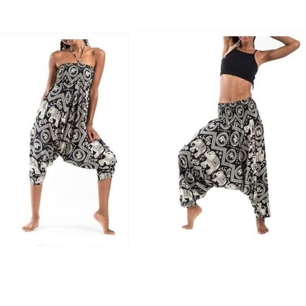 64a57e67eecd9 Shop Women'S Tribal Harem 2 In 1 Jumpsuit Pants - On Sale - Free ...
