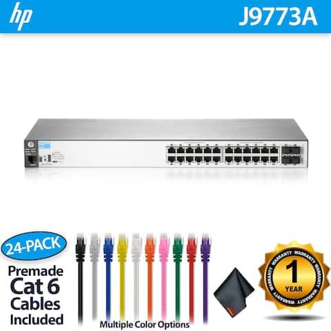 Aruba 2530 24G Switch (J9776A) - 24 Ports + 24 CAT6 Cables