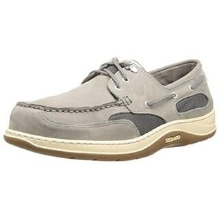 Sebago Mens Clovehitch II Nubuck Mesh Inset Boat Shoes - 11 medium (d)