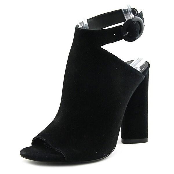 Kendall + Kylie Gigi Women Peep-Toe Suede Black Heels