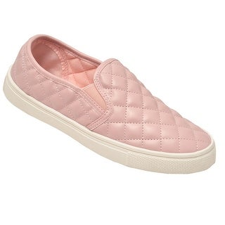 Weeboo Adult Blush Quilted Stitch Pattern Laceless Sneakers