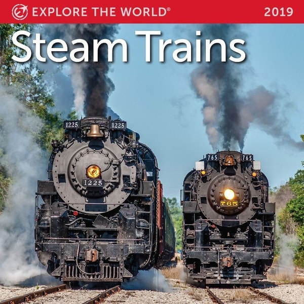 2019 Steam Trains Mini Wall Calendar, Trains by Ziga Media