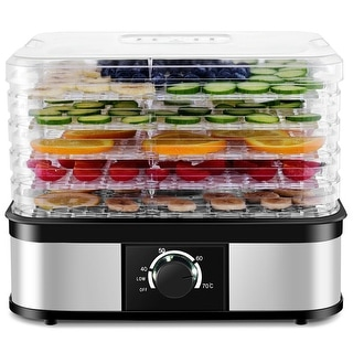 Costway Food Dehydrator 5 Tray Food Preserver Fruit Vegetable Dryer Temperature Control - as pic
