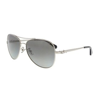 Coach HC7074 900111 Silver Aviator Sunglasses - 59-15-140