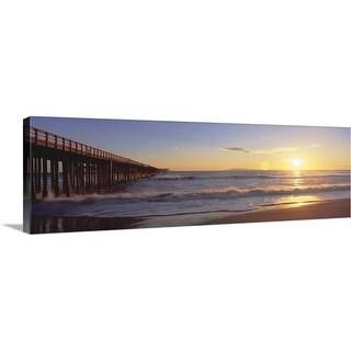 """""Ventura pier at sunset, California"""" Canvas Wall Art"