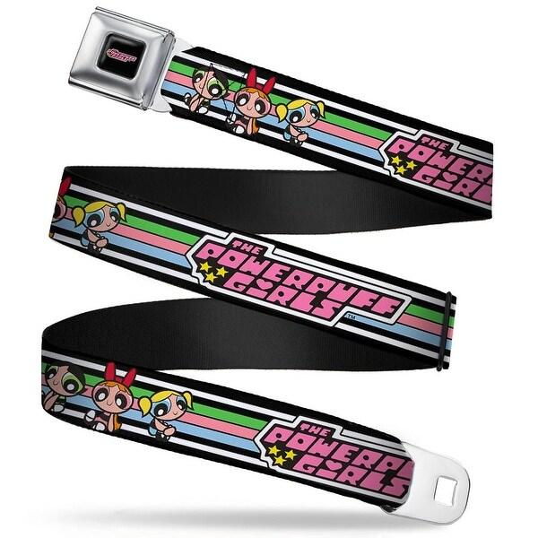 The Powerpuff Girls Black White Pink Full Color The Powerpuff Girls Sitting Seatbelt Belt