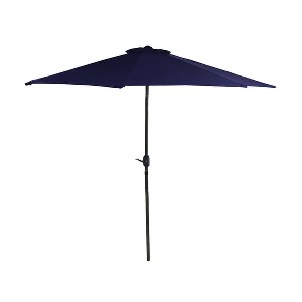 7.5' Outdoor Patio Market Umbrella with Hand Crank - Navy Blue