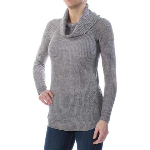 BCX Womens Gray Long Sleeve Cowl Neck Sweater Size: XS