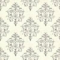 Brewster CTR64131 Arronsburg Ivory Damask Wallpaper - ivory damask - N/A