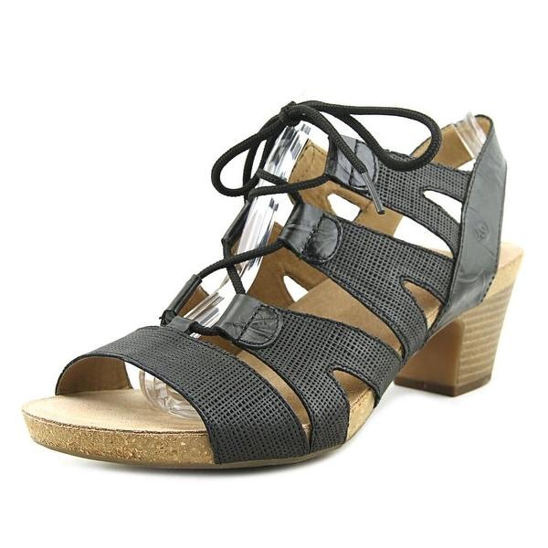 Josef Seibel Ruth 29 Women Open Toe Leather Black Gladiator Sandal