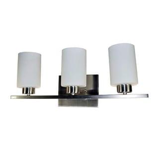 HomeSelects International 7530 Dakota 3 Light Bathroom Vanity Fixture - Brushed Nickel