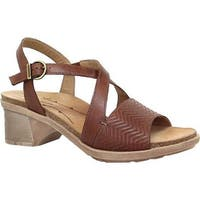 Dromedaris Women's Sienna Slingback Sandal Cognac Leather
