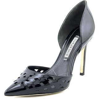Charles David Contessa Women Pointed Toe Patent Leather Black Heels