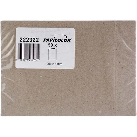 Kraft Grey - Papicolor A6 Folded Cards 50/Pkg