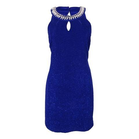 2463aa2f953 Teeze Me Juniors  Sleeveless Textured Dress - Royal ...