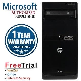 Refurbished HP Pro 3400 Tower Intel Core I3 2100 3.1G 4G DDR3 250G DVD Win 7 Pro 64 1 Year Warranty - Black