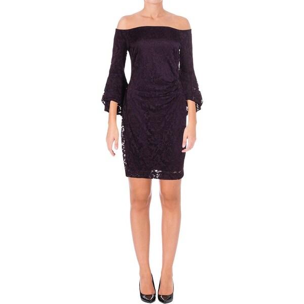 Lauren Ralph Lauren Womens Spencer Cocktail Dress Off-The-Shoulders Party