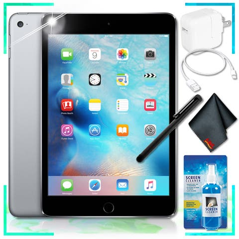 Apple 128GB iPad mini 4 (Space Gray) Essentials Bundle