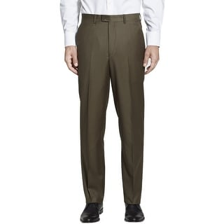 Ralph Lauren RL Wool Blend Flat Front Dress Pants Medium Olive