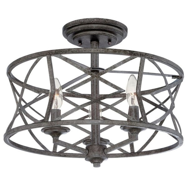 "Millennium Lighting 2173 Lakewood 3 Light 16"" Wide Semi-Flush Ceiling Fixture"