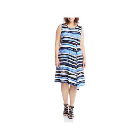 0c31217f862 Karen Kane Womens Plus Casual Dress Sleeveless A-Line