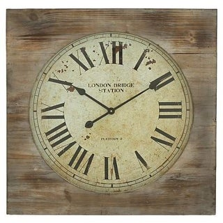 Aspire Home Accents 5095 London Bridge Station Square Wall Clock