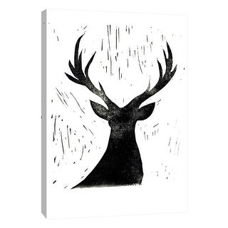 """PTM Images 9-108674  PTM Canvas Collection 10"""" x 8"""" - """"Deer Friend"""" Giclee Deer Art Print on Canvas"""