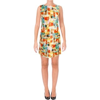Tahari ASL Womens Petites Casual Dress Printed Shift