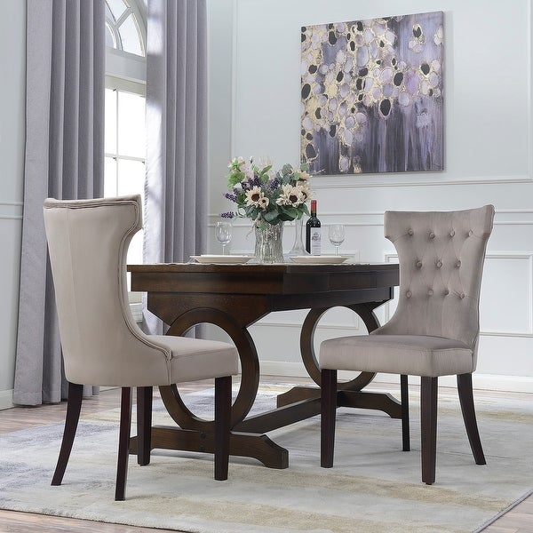 Set Of 2 Dining Chairs: Shop Belleze Set Of 2, Elegant Tufted Upholestered Dining