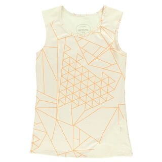 Oiselle Womens Keyhole Tank Top Off White - off white/orange