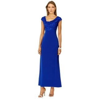 Connected Apparel Plus Size Sleeveless Draped Evening Gown Dress - 24W