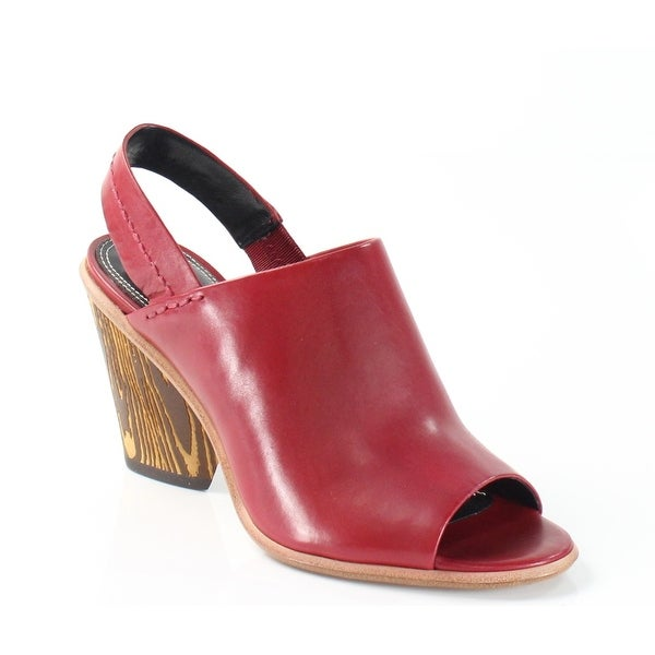 Derek Lam NEW Red Shoes Size 6M Slingbacks Leather Sandals