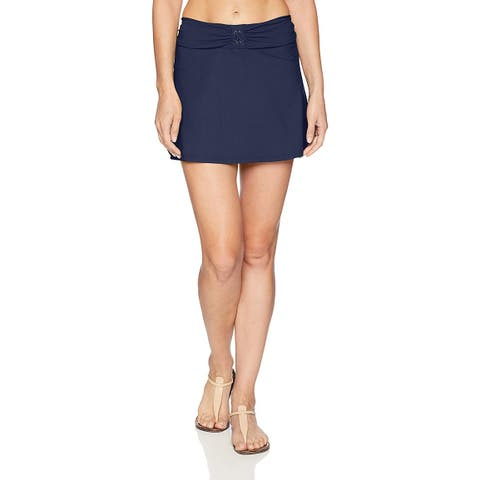 Profile by Gottex Women's Swim Skirt Swimsuit Cover up,, Moto Navy, Size Small