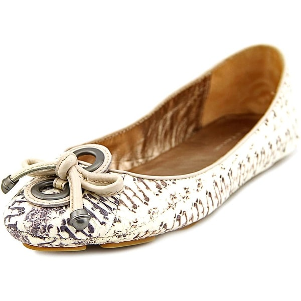 Elie Tahari Robin Women Round Toe Leather White Flats