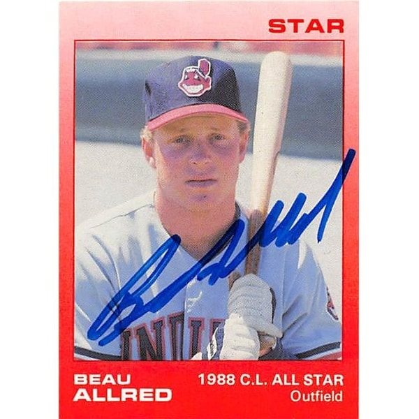 Shop Beau Allred Autographed Baseball Card - Cleveland Indians 1988 Sta - Free  Shipping On Orders Over  45 - Overstock.com - 23979128 45956c2e004d