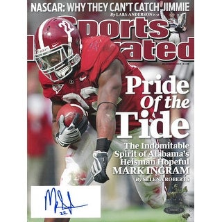 Mark Ingram signed Alabama Crimson Tide Sports Illustrated Full Magazine 11-30-2009 Pride of the Tide #22- Tri-Star Hologram (He