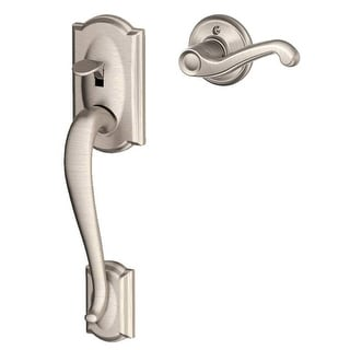 Schlage FE285-CAM-FLA-LH  Camelot Lower Handleset for Electronic Keypad with Flair Interior Left Handed Lever