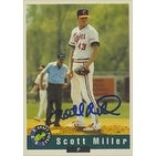Scott Miller Oakland Athletics 1992 Classic Draft Pick Autographed Card This item comes with a cer