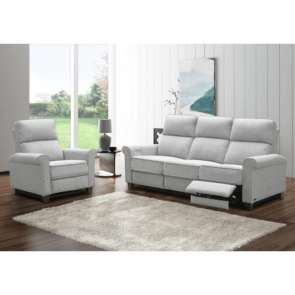 Abbyson Emma 2-Piece Power Reclining Sofa Set