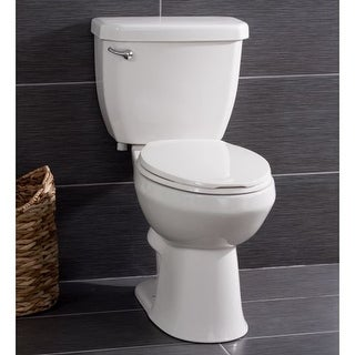 Miseno MNO1503C Two-Piece High Efficiency Toilet with Elongated ADA Height Bowl, Molded Seat, Trip Lever and Wax Ring (1.28 GPF)