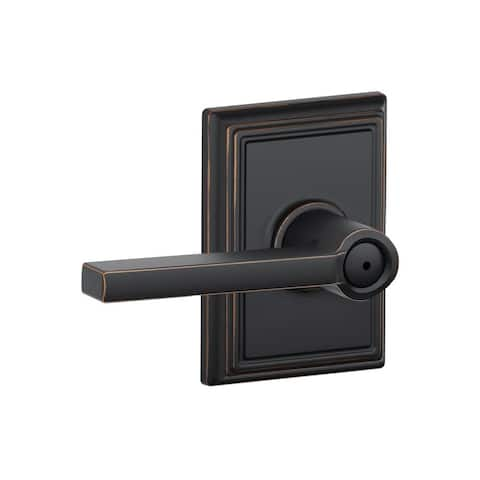 Schlage F40-LAT-ADD Latitude Privacy Door Lever Set with Decorative