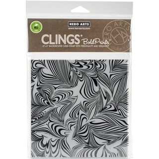 "Hero Arts Cling Stamps 6""X6""-Marble Bold"